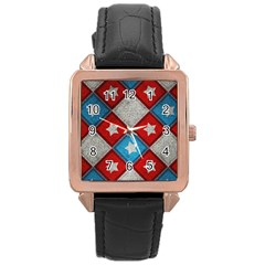 Atar Color Rose Gold Leather Watch