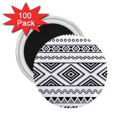 Aztec Pattern 2 25  Magnets (100 Pack)
