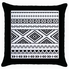 Aztec Pattern Throw Pillow Case (black)