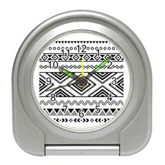 Aztec Pattern Travel Alarm Clocks