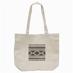 Aztec Pattern Tote Bag (cream)