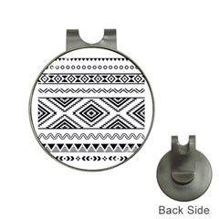Aztec Pattern Hat Clips With Golf Markers