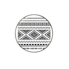Aztec Pattern Hat Clip Ball Marker (4 Pack)
