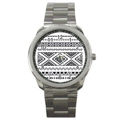 Aztec Pattern Sport Metal Watch