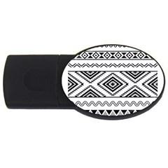 Aztec Pattern USB Flash Drive Oval (4 GB)