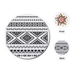 Aztec Pattern Playing Cards (Round)