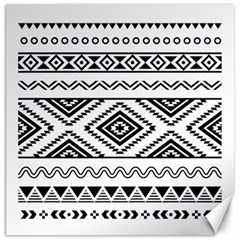Aztec Pattern Canvas 12  x 12