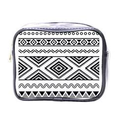 Aztec Pattern Mini Toiletries Bags