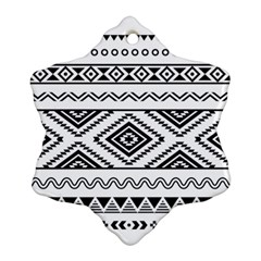 Aztec Pattern Snowflake Ornament (two Sides)