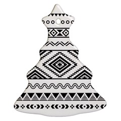 Aztec Pattern Christmas Tree Ornament (Two Sides)