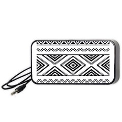 Aztec Pattern Portable Speaker (black)