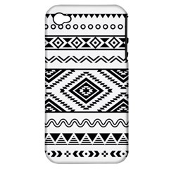 Aztec Pattern Apple Iphone 4/4s Hardshell Case (pc+silicone)