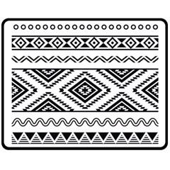 Aztec Pattern Double Sided Fleece Blanket (medium)