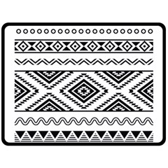 Aztec Pattern Double Sided Fleece Blanket (large)