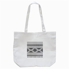 Aztec Pattern Tote Bag (white)