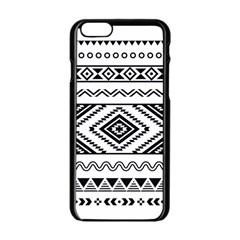 Aztec Pattern Apple Iphone 6/6s Black Enamel Case