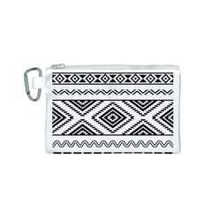 Aztec Pattern Canvas Cosmetic Bag (S)