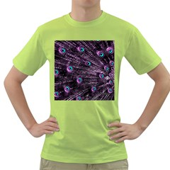Bird Color Purple Passion Peacock Beautiful Green T-Shirt