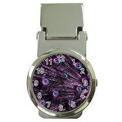 Bird Color Purple Passion Peacock Beautiful Money Clip Watches