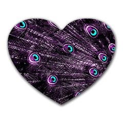 Bird Color Purple Passion Peacock Beautiful Heart Mousepads