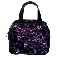 Bird Color Purple Passion Peacock Beautiful Classic Handbags (one Side)