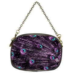 Bird Color Purple Passion Peacock Beautiful Chain Purses (one Side)