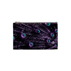 Bird Color Purple Passion Peacock Beautiful Cosmetic Bag (small)