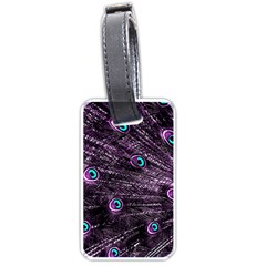 Bird Color Purple Passion Peacock Beautiful Luggage Tags (one Side)