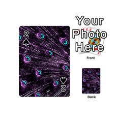 Bird Color Purple Passion Peacock Beautiful Playing Cards 54 (Mini)
