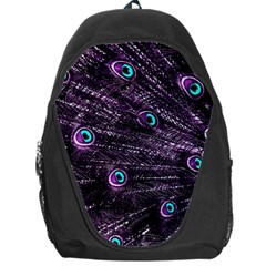 Bird Color Purple Passion Peacock Beautiful Backpack Bag
