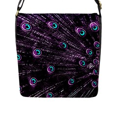 Bird Color Purple Passion Peacock Beautiful Flap Messenger Bag (l)