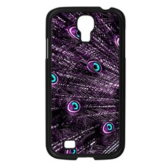 Bird Color Purple Passion Peacock Beautiful Samsung Galaxy S4 I9500/ I9505 Case (black)