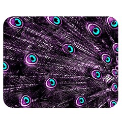 Bird Color Purple Passion Peacock Beautiful Double Sided Flano Blanket (medium)