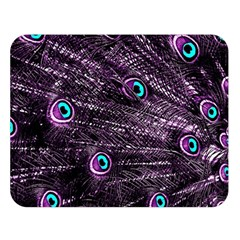 Bird Color Purple Passion Peacock Beautiful Double Sided Flano Blanket (large)
