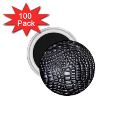 Black Alligator Leather 1 75  Magnets (100 Pack)