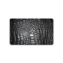 Black Alligator Leather Magnet (Name Card)