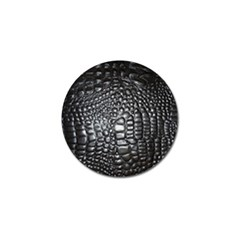 Black Alligator Leather Golf Ball Marker (10 Pack)
