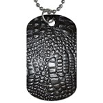 Black Alligator Leather Dog Tag (Two Sides) Back