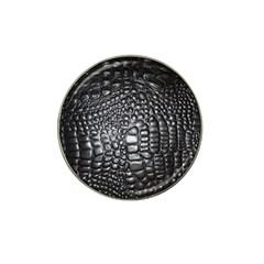 Black Alligator Leather Hat Clip Ball Marker