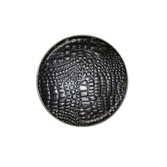 Black Alligator Leather Hat Clip Ball Marker (10 Pack)