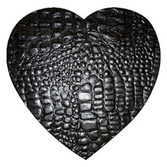 Black Alligator Leather Jigsaw Puzzle (heart)