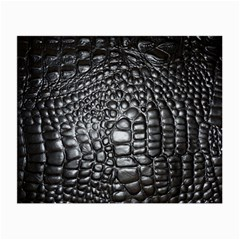 Black Alligator Leather Small Glasses Cloth