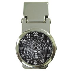 Black Alligator Leather Money Clip Watches