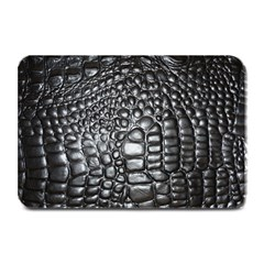 Black Alligator Leather Plate Mats