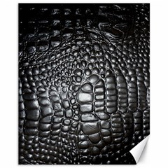 Black Alligator Leather Canvas 11  x 14