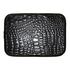 Black Alligator Leather Netbook Case (Medium)