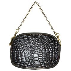 Black Alligator Leather Chain Purses (one Side)