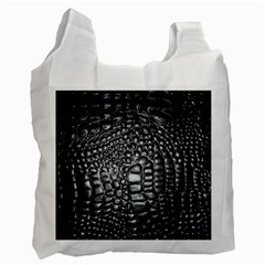 Black Alligator Leather Recycle Bag (Two Side)