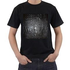 Black Alligator Leather Men s T Shirt (black)