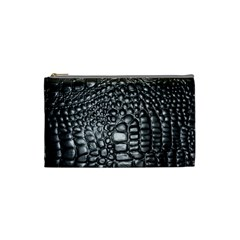 Black Alligator Leather Cosmetic Bag (small)